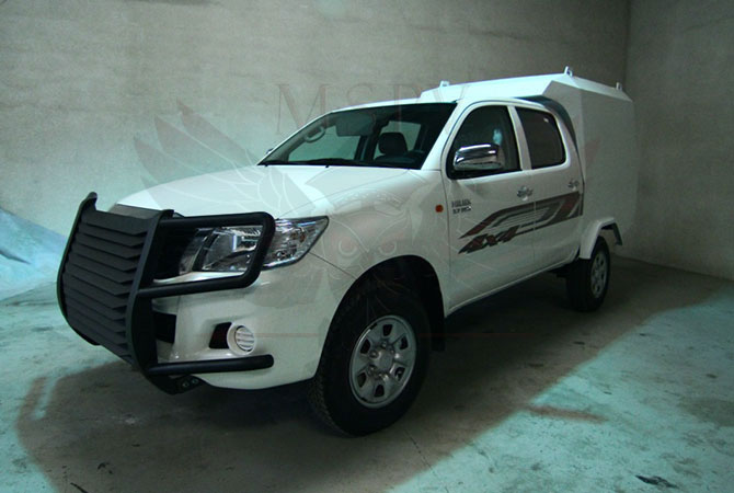 Armoured CIT Vehicle Morocco - Toyota Hilux